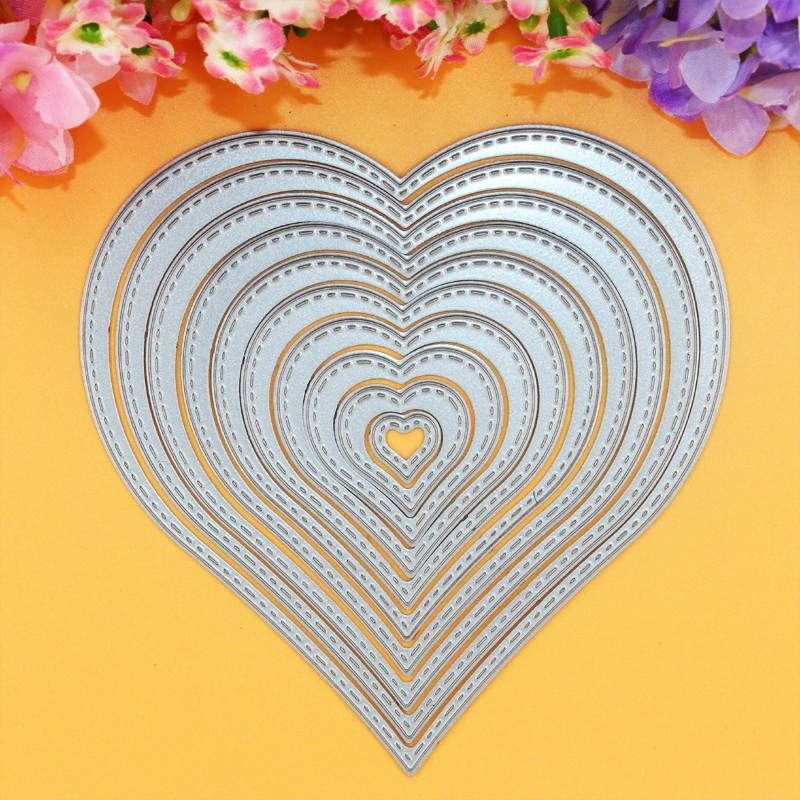 YINISE 021 LOVE HEART Metalsnit Dies Scrapbooking Die Cuts Stencils DIY Kort Album Embossing Folder Decoration CUT CUTTER