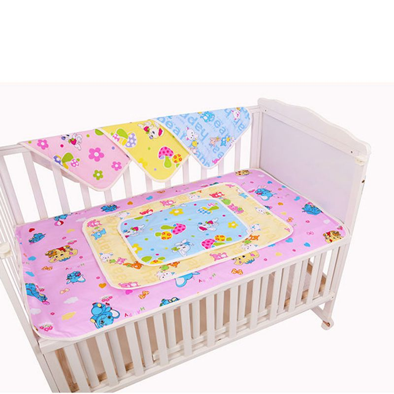 1piece Waterproof Changing Diaper Pad Cotton Washable Baby Infant Urine Mat Nappy Bedding Cushion