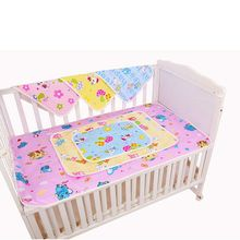 цены 1piece Waterproof Changing Diaper Pad Cotton Washable Baby Infant Urine Mat Nappy Bedding Cushion