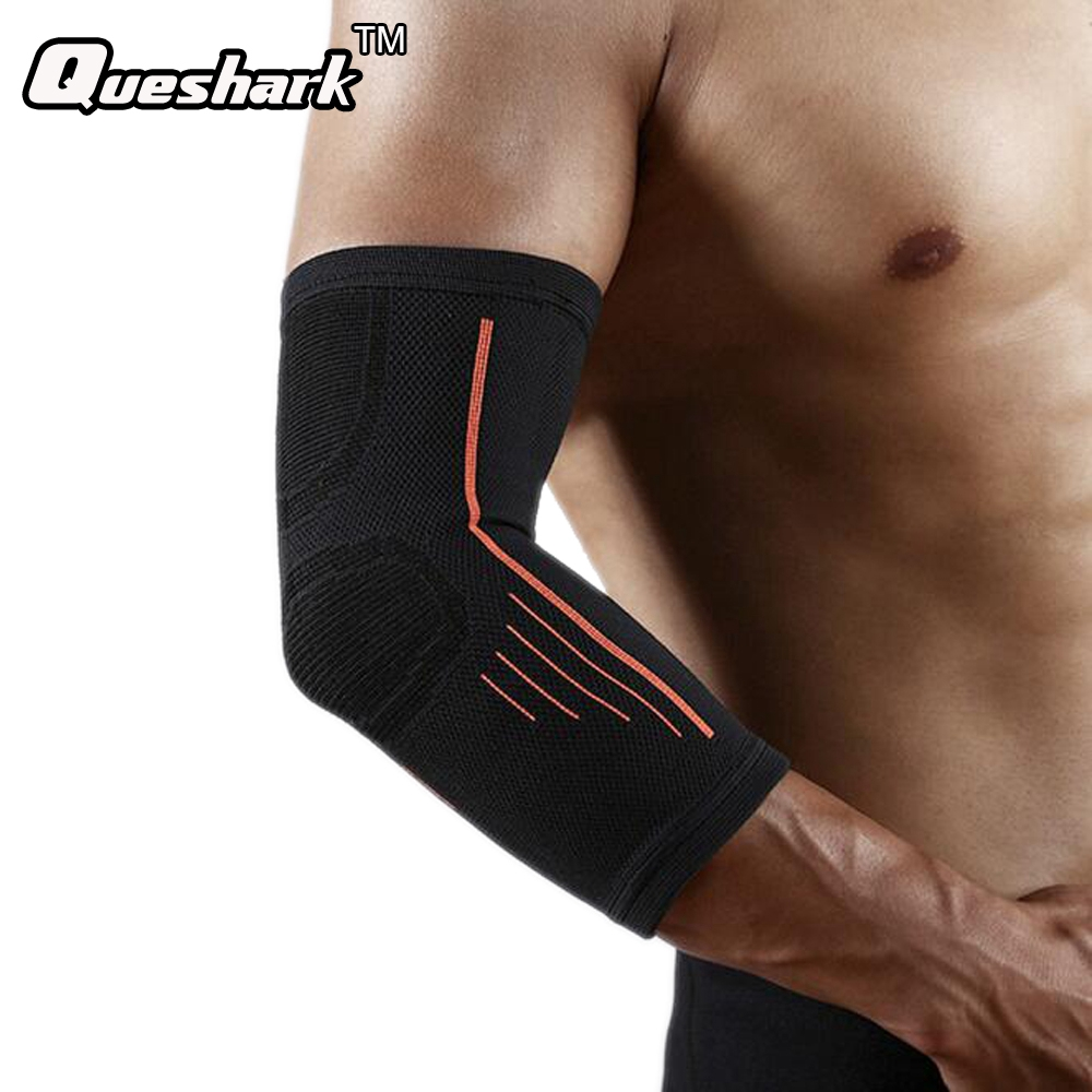 1 PCS Mens Sports Basketball Shooting Cycling Compression Arm Sleeve Elbow Protector Pad Pads Support Brace Arm Warmers