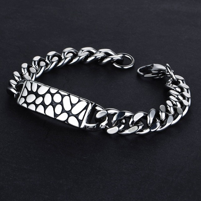 Men's Silver Color Stainless Steel Bracelet