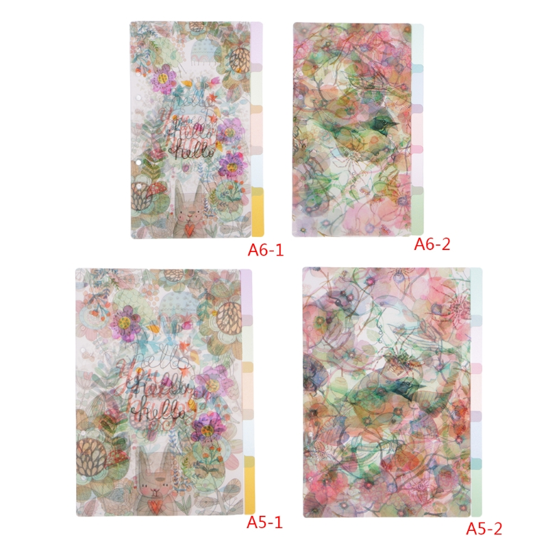 1 Set Index Paging 5Pcs Floral Category Page Planner Index Page Notebook Translucent 6 <font><b>Hole</b></font> <font><b>Binder</b></font> 2018 New image