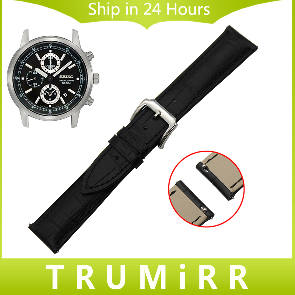online buy whole seiko watch band from seiko watch band 18mm 20mm 22mm quick release watch band for seiko men women genuine leather strap stainless steel