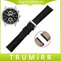18mm 20mm 22mm Venda de Reloj para Hombres Seiko de Liberación Rápida mujeres Correa de Cuero Genuina de Acero Inoxidable Hebilla Tang Muñeca Cinturón pulsera