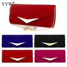Clutch-Bag Baguette Handbags Chain Crossbody Blue Women's Luxury Party for Brand Red