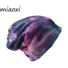 Miaoxi Новый Повседневная Женщины Hat Дамы Трикотажные Весна Осень Cap Шарф женщин Skullies Gorro Моды Шапочки Продажа