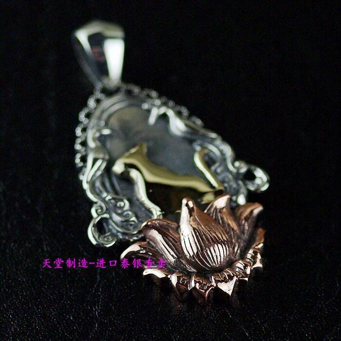 925 Стерлинговое Серебро новый подлинный новый, серебро медный микс, золотой Кот тайские серебряные подвески