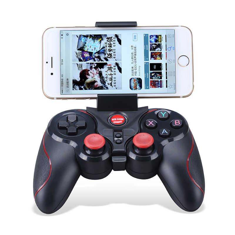 Геймпад для ПК bluetooth-джойстик Android Bluetooth геймпад контроллер Джойстик для IOS и ПК с системой андроида и стенты поддерживающих колесиков выполнены Приемник Новый S5 Deluxe
