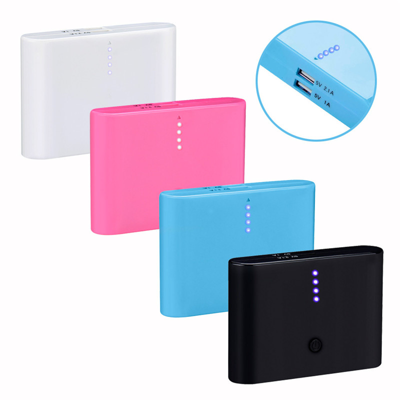 12000mAh Double USB Ports Portable External Battery Power Bank Charger For Cell Phone Outdoor Travelling Accessories Wholesale