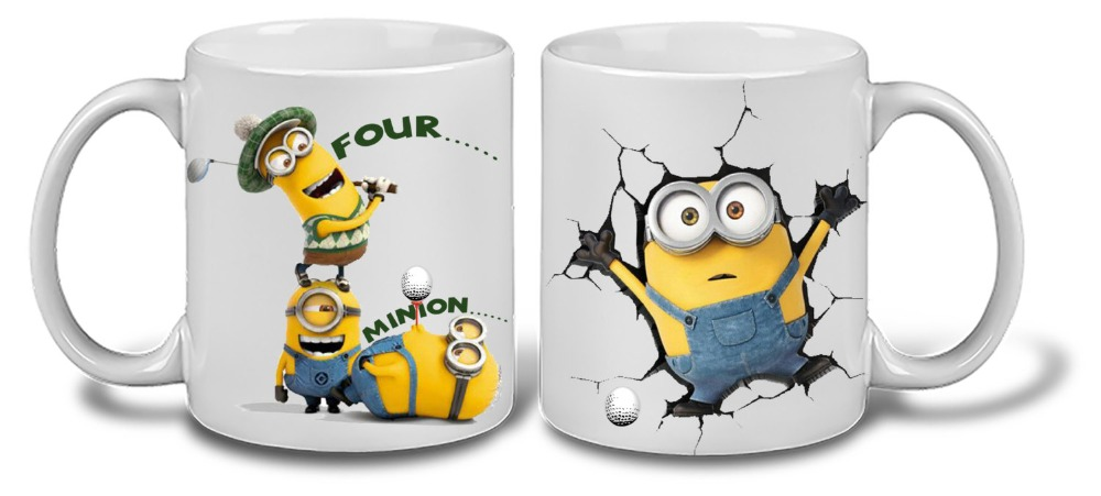 dad golf minion despicable me Mug Friends mugs Tea Cup coffee mug ceramic travel novelty friend gifts home decal