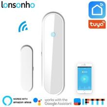 Lonsonho Wifi Smart Door Window Sensor Detector Wireless Home Security Works With Alexa Google Home IFTTT Tuya Smart Life App