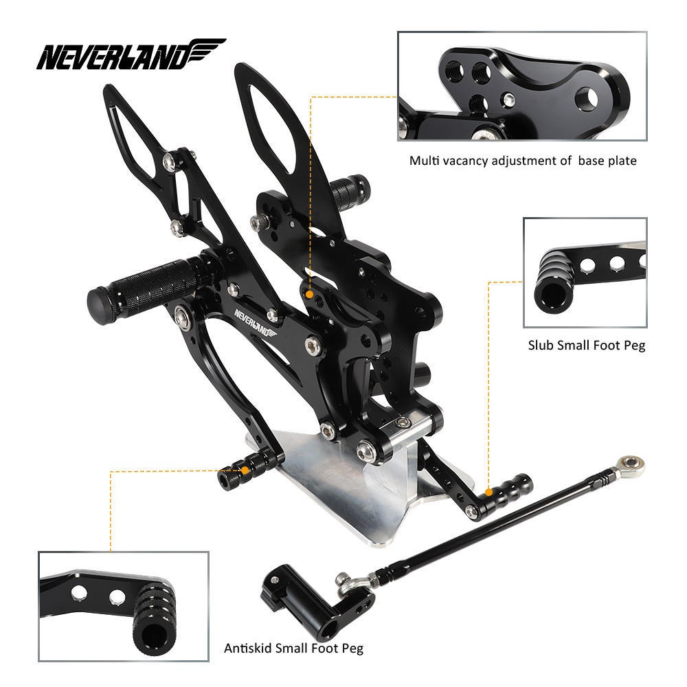 YZF R1 YZF R1 2007 2008 Motorcycle Motors Accessories Parts Foot Rests Rear Set Adjustable Foot Pegs Adjustable For Yamaha-in Foot Rests from Automobiles & Motorcycles    2