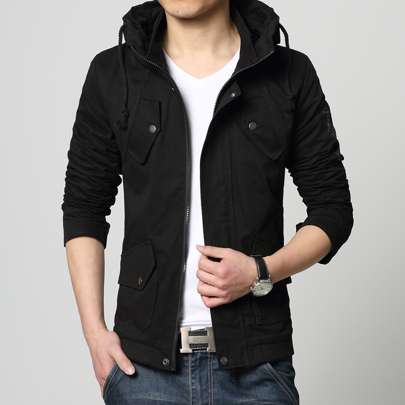e092bef0116a 95% cotton 2019 New brand spring summer casual outwear men jacket mens  jackets and coats army windbreaker mens overcoat 5XL -in Jackets from Men s  Clothing ...