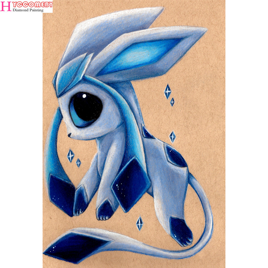 5d DIY round Diamond Painting full square Cross Stitch cartoon Japan Anime Pokemon Diamond Embroidery Diamonds Decorative gift