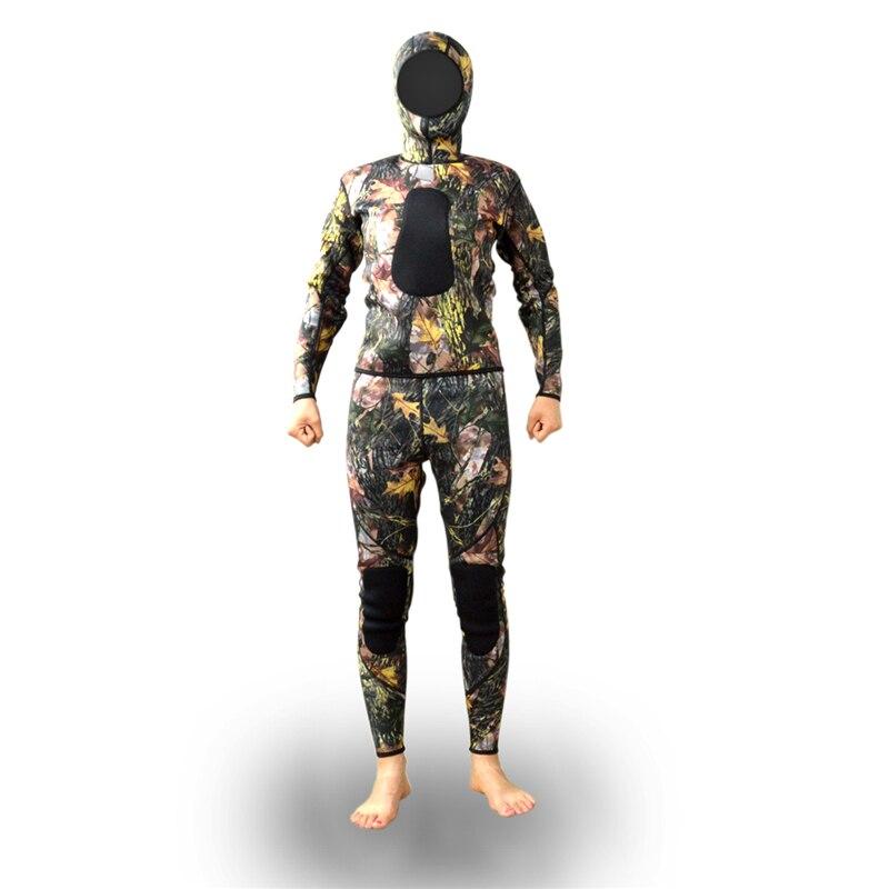 Layatone Mens Womens 3mm Neoprene Camoflage Spearfishing Wetsuit For Underwater Hunting Diving mens camouflage 3mm neoprene wetsuit weight belt vest veste for spearfishing fishing clothes women