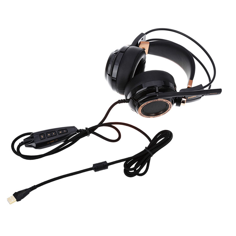 Image 5 - Somic Upgrade G941 Active Noise Cancelling 7.1 Virtual Surround Sound USB Gaming Headset with Mic Vibrating for PC Laptop-in Phone Earphones & Headphones from Consumer Electronics