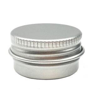 Image 3 - 50 adet/grup 5g 10g 15g 20g 30g 40g 50g 60g alüminyum krem kavanoz Pot Nail Art makyaj dudak parlatıcısı boş kozmetik Metal teneke kutu