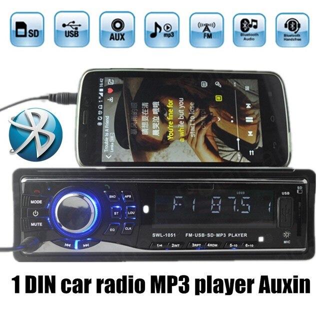 Горячая 1 din Автомобильный Радиоприемник Mp3-плеер Поддержка USB SD Aux 12 В Автомобиль Аудио Стерео Mp3 плеер поддержка bluetooth