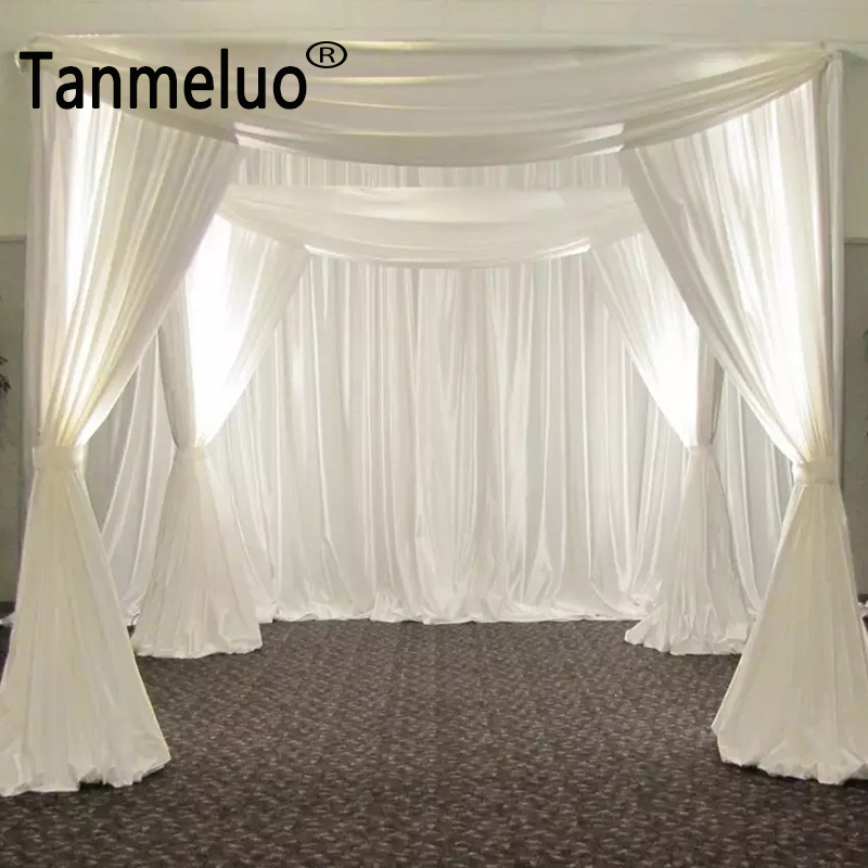 Wholesale wedding arch square pavilion backdrop curtains wedding decoration backdrops square drapery canopy
