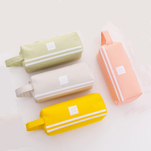 4PCS Creative Double Zipper Pencil Case Kawaii Pencilcase Large Pen Box Big For Girls Gifts Cute School Bag Stationery Supplies large double zipper pencil case cute clear pencilcase kawaii bag school