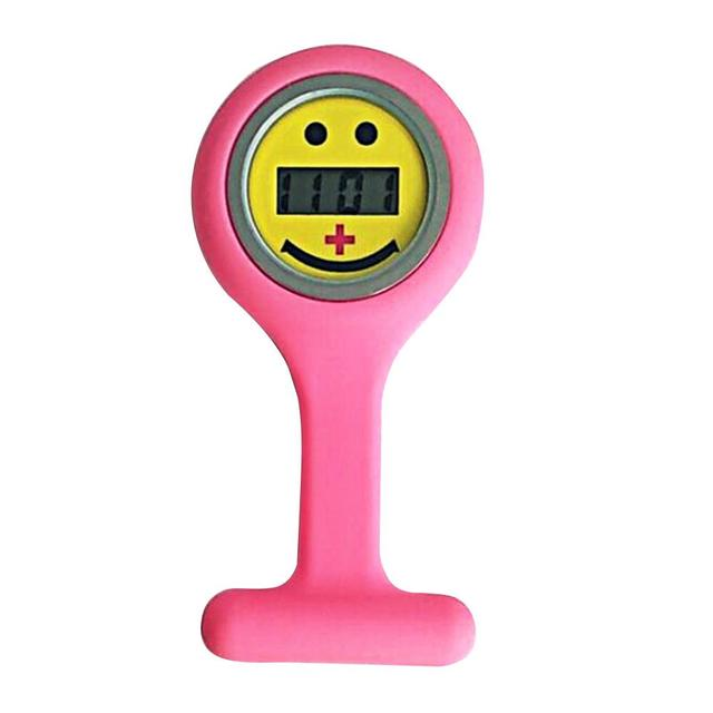 Pocket Size Smile Digital Medical Doctor Electronic Brooch Silicone Nurse Watch