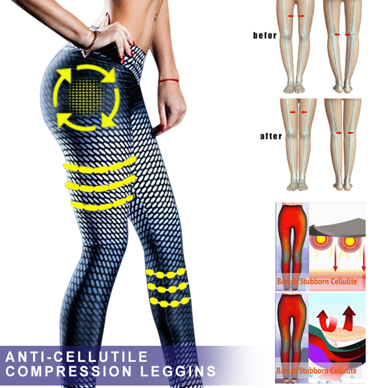 Newly Women Anti-Cellulite Compression Slim Leggings Gym Running  Sport Pants M99