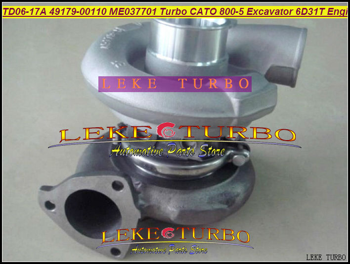 TD06-17A 49179-00100 Water -C Turbocharger For CATO 800-5 Excavator For Sumitomo HC78RM For Caterpillar S6D14 Earth Moving 6D14T  цены