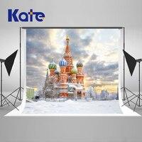 Kate 200x300 cm kościół ślub fotografia backdrops fotografia tło teł śniegu zimowe niebo bezszwowe tło