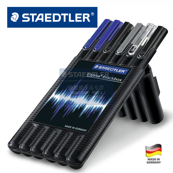 LifeMaster Staedtler Triplus Black Box 6pcs/set Moblie Office Mechanical Pencil/Ballpoint Pen/Fineliner/Textsurfer/Roller 6pcs set german staedtler gel pen fiber pen signing pen ballpoint pen mechanical pencil highlighter pen marker 34 sb6b 0 5mm