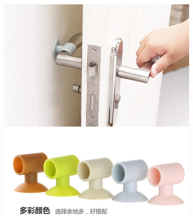 1Pcs Door Handle Protection Baby Safety Shock Absorbers Security Card Door Stopper Baby Newborn Care Child Lock Protection From