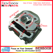 GY6 150CC 57.4MM CYLINDER HEAD COMP 4T 157QMJ Chinese Scooter Parts ATV Parts Znen Baotian Peace Taotao Icebear UM Free Shipping