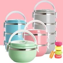 Japanischen Edelstahl Japanischen Bento Boxs Tragbare Lebensmittelbehälter Lunchbox Für Kinder Shcool Thermische Mittagessen Aufbewahrungsbox