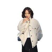 be7b8fad9b1a 50% Wool Coat Autumn Winter Coat Women Clothes 2018 Korean Elegant Casual  Woolen Jacket White