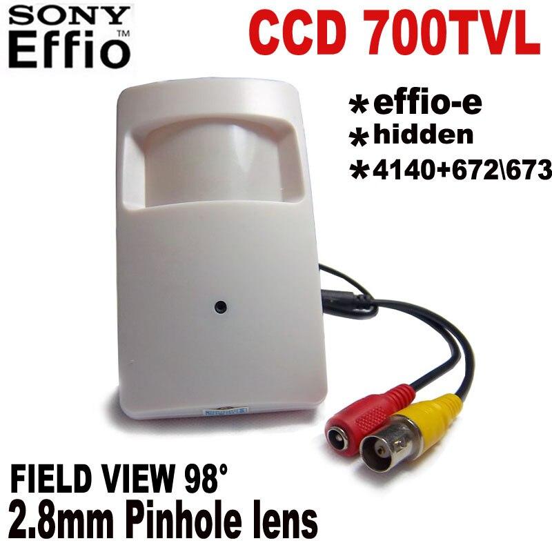 HQCAM 1/3 Sony CCD 700tvl Security Indoor CCTV Mini PIR Style camera mini ccd Surveillance Camera 4140+672\673 Analog Camera