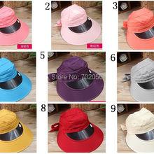 a443431b99f Korea trend Women solid Wide Brim hats Floppy Summer UV Protection Beach Sun  Hat Dome fishing