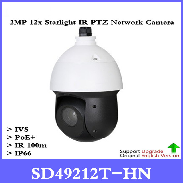 Original 2MP PTZ Camera SD49212T-HN 2MP 12x Starlight IR PTZ Network Camera 1/2.8 STARVIS CMOS IR Distance 100m Support PoE