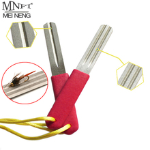 MNFT 2 Pcs/Lot Double Side Good Quality Fishing Flies Hook Hone Fly Fishing Hook Sharpening Tool Hooks Sharpener Hone