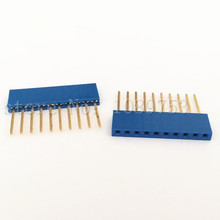 50Pcs 10Pin Female Tall Stackable Header Connector Socket For Arduino Shield Blue