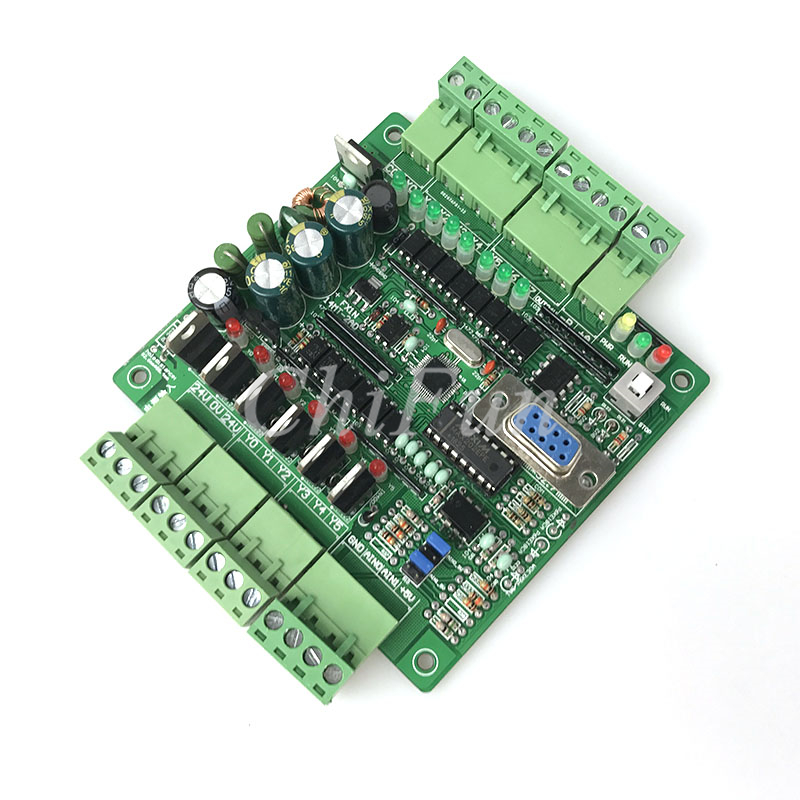 PLC industrial control board analog FX1N 14MT 2AD RS485 stepper motor controller programmable logic controller
