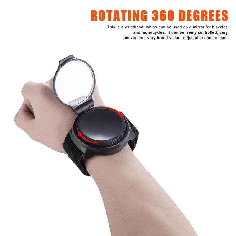 360° Hand Cycling Wrist Mirror Rear View Rearview Safety Bike Arm Back Mirror UK
