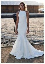 цена Verngo Ivory Mermaid Wedding Dress Sexy Bridal Dress Classic Simple Wedding Gowns Custom Made Vestido De Noiva