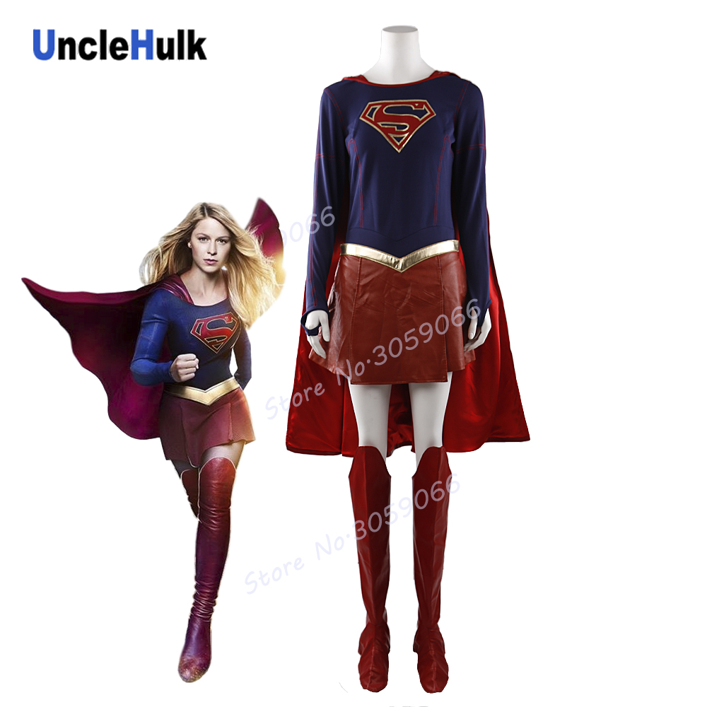 Super Girl Cosplay Costume Set Heroine Halloween Suit | UncleHulk