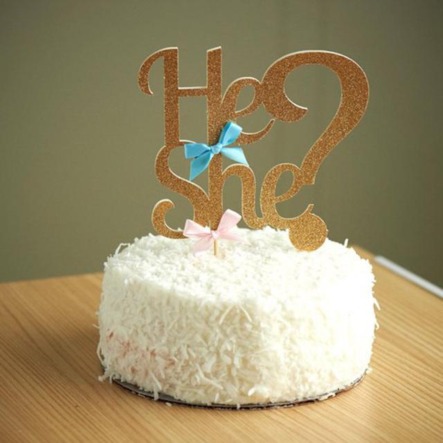He Or She? Cupcake Topper