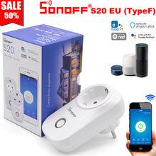 Itead Sonoff S20 Smart WiFi Socket CN AU UK US EU Plug Wireless Remote Outlet Wifi Switch Works With Alexa Google Home Assistant