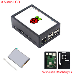3.5 inch Raspberry Pi 3 Model B+ Touchscreen 480*320 LCD Display + Touch Pen + ABS Case Box also for Raspberry Pi 3 Model B