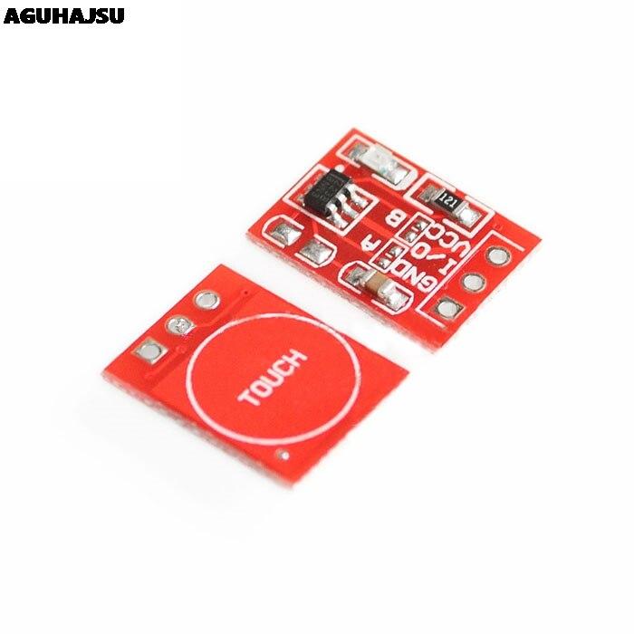 10 шт./лот, новый TTP223 модуль сенсорной кнопки, конденсаторный одноканальный самоблокирующийся сенсорный выключатель
