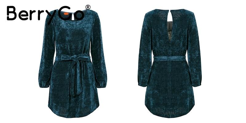 Swedish Krona エレガントなコーデュロイランタンスリーブ冬のドレスの女性ヴィンテージショート秋のドレスバックホールセクシーなパーティードレスフェスタ  13