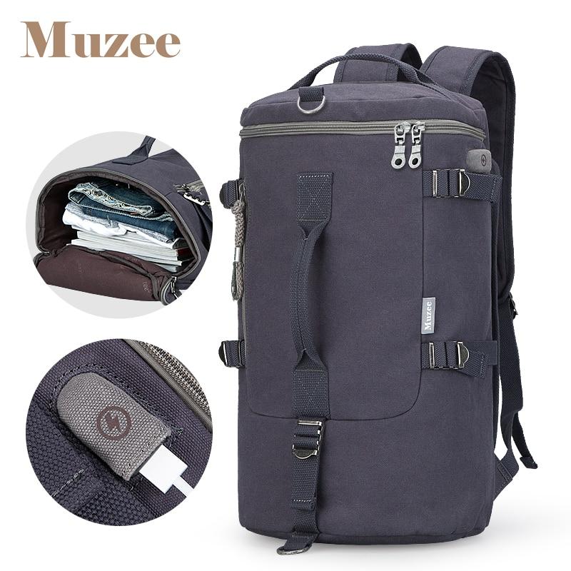 Muzee haute capacité sac à dos sac de voyage hommes bagages sac à bandoulière toile seau mâle sac à dos mochila masculina hommes