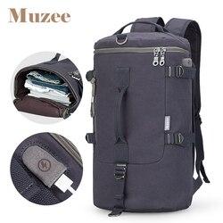 Muzee вместительный рюкзак дорожная сумка для мужчин багаж сумка на плечо холст ведро мужской рюкзак mochila masculina для мужчин
