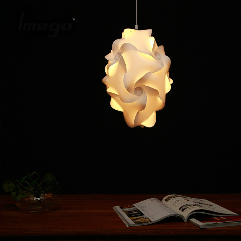 Modern Creative Diy Iq Puzzal Pp Led E27 Pendant Light For Bedroom Living Room Dining Room 1961 magic creative novelty diy iq puzzle pp pumpkin pendant light for living room bedroom dining room deco dia 45cm 1956
